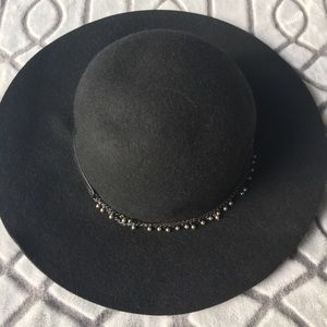 BCBG Black Felt Hat